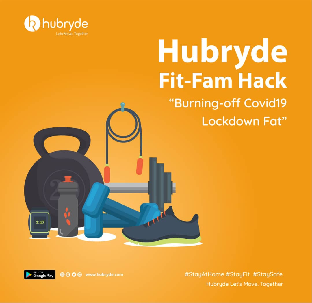 5 Hubryde home exercises to do during the COVID 19 lockdown